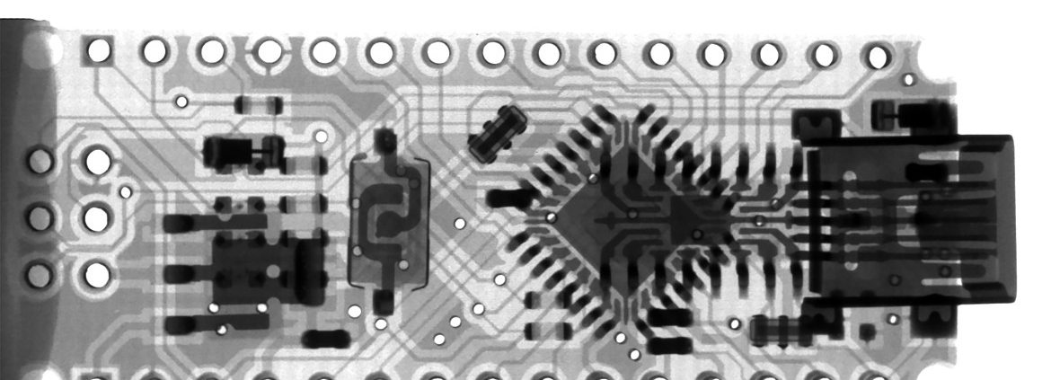 X-Ray of a micro-controller board