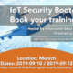IoT Security Bootcamp @ISH poster with 15% discoount