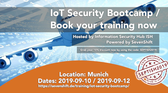 IoT Security Bootcamp @ISH Poster mit 15% Rabatt